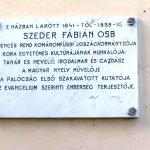 Szeder Fábián emléktáblája, Komáromfüss [Trávnik]